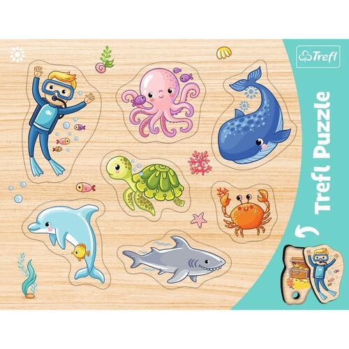 "31309  - Puzzles - ""Frame Shaped Puzzles"" - Underwater world / Trefl"